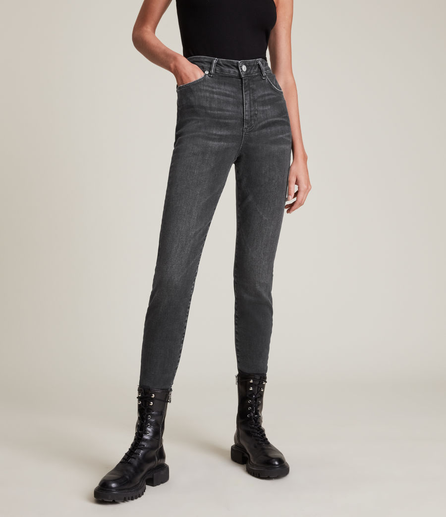 Women's Phoenix Ultra High-Rise Skinny Size Me Jeans (washed_black) - Image 2