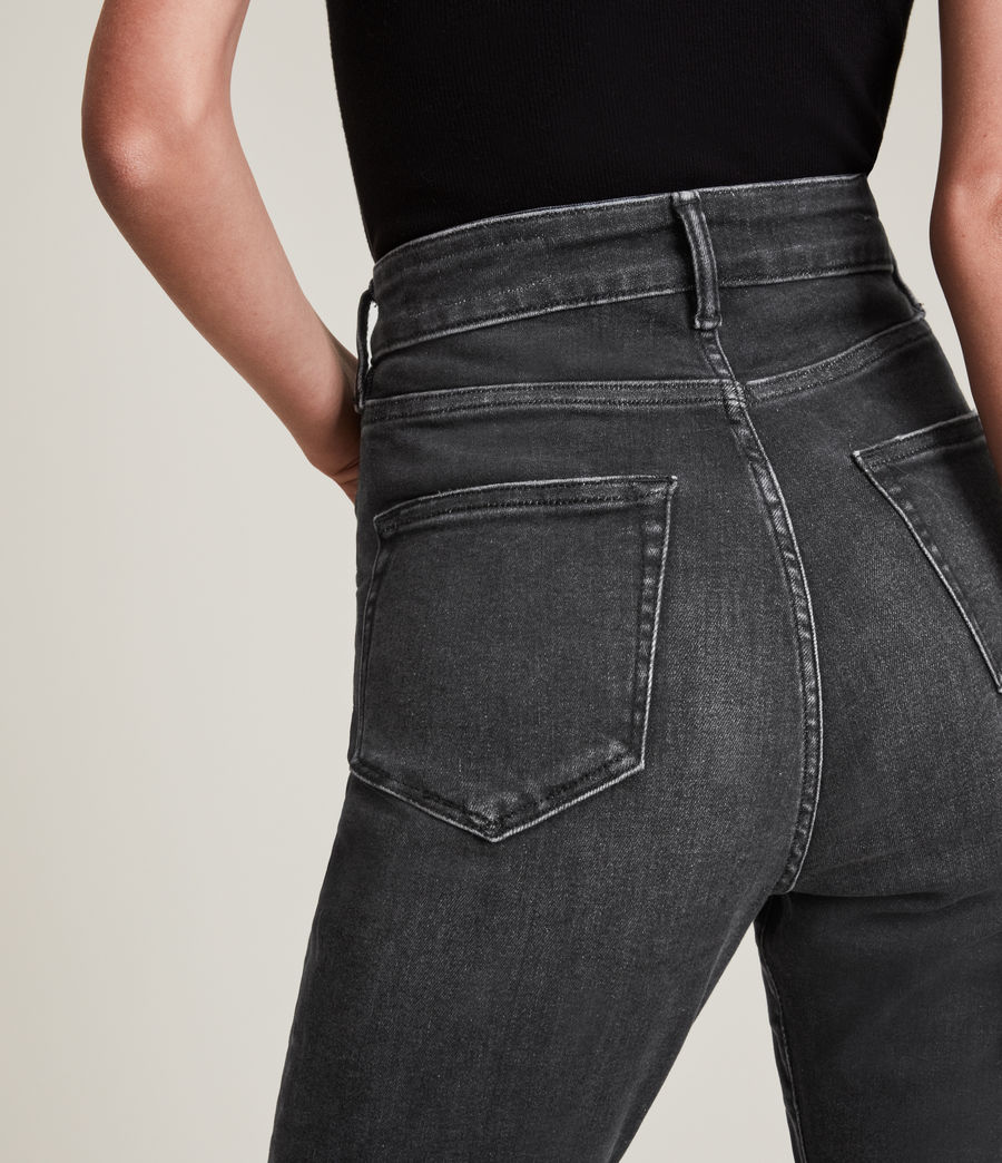 Women's Phoenix Ultra High-Rise Skinny Size Me Jeans (washed_black) - Image 3