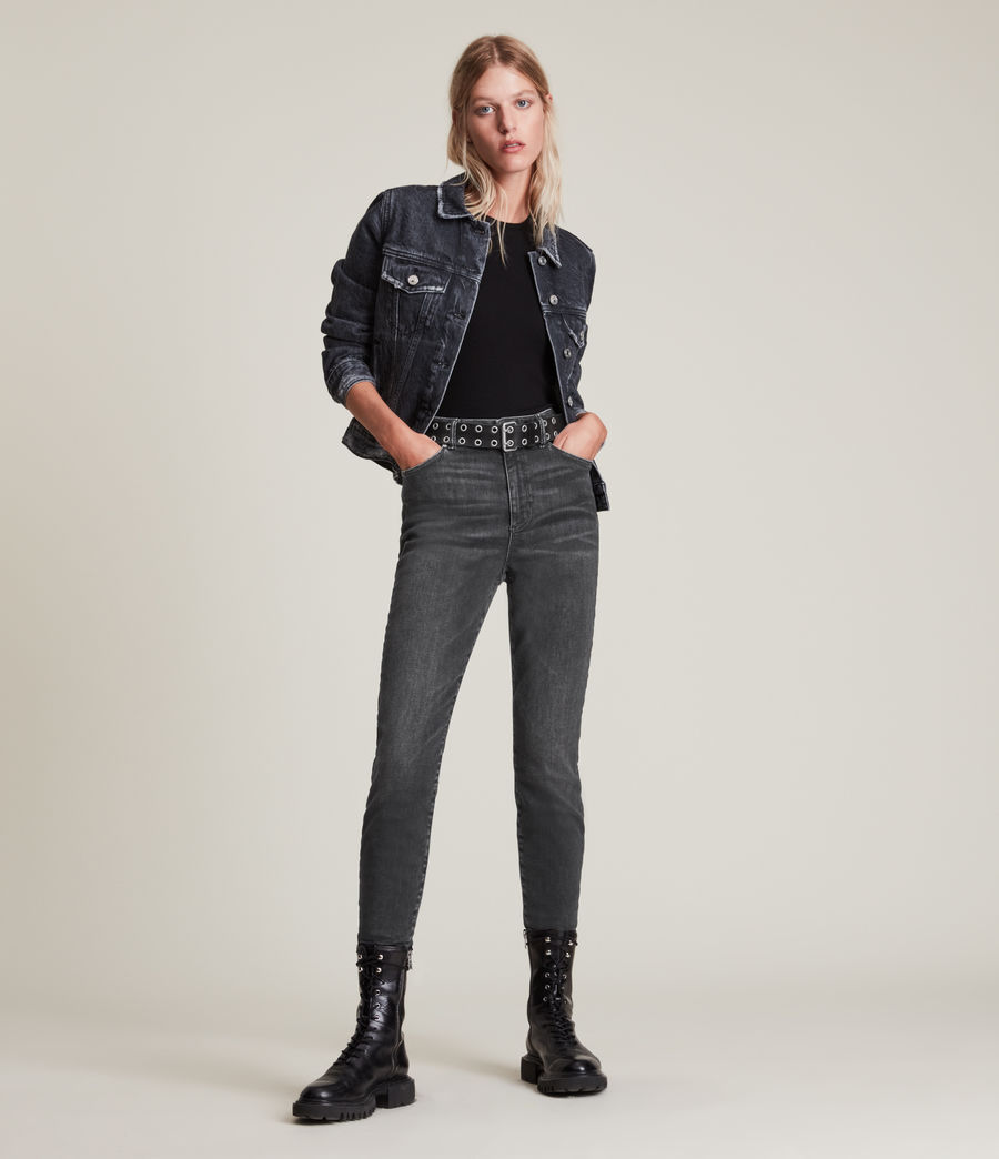 Women's Phoenix Ultra High-Rise Skinny Size Me Jeans (washed_black) - Image 4