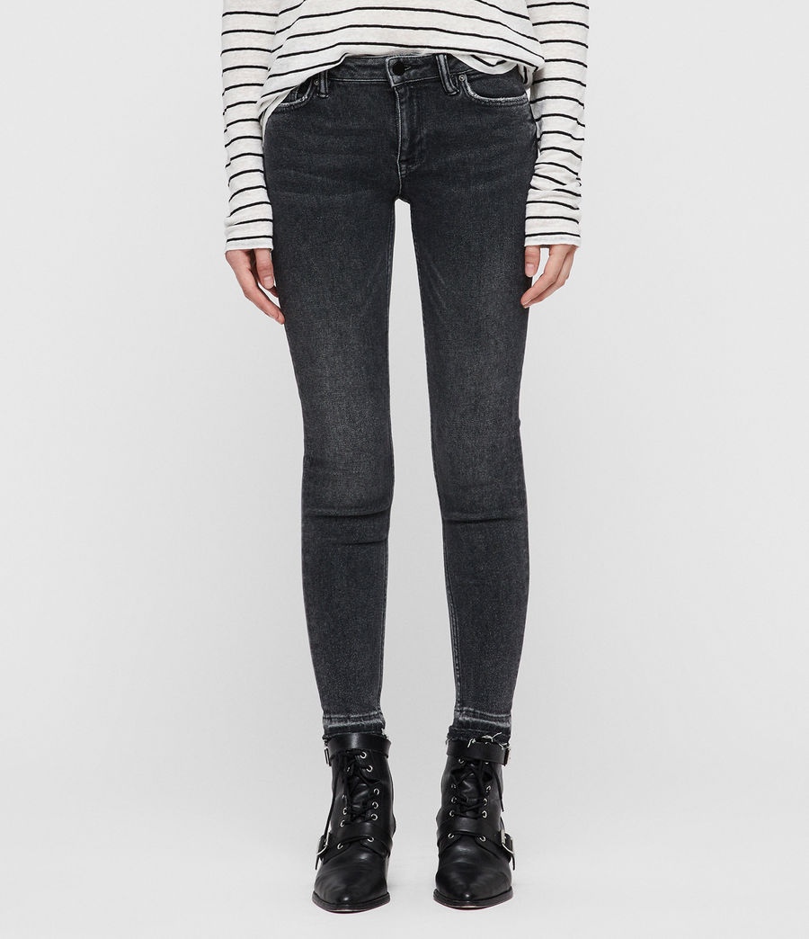 Women's Mast Ankle Ty Jeans (washed_black) - Image 1