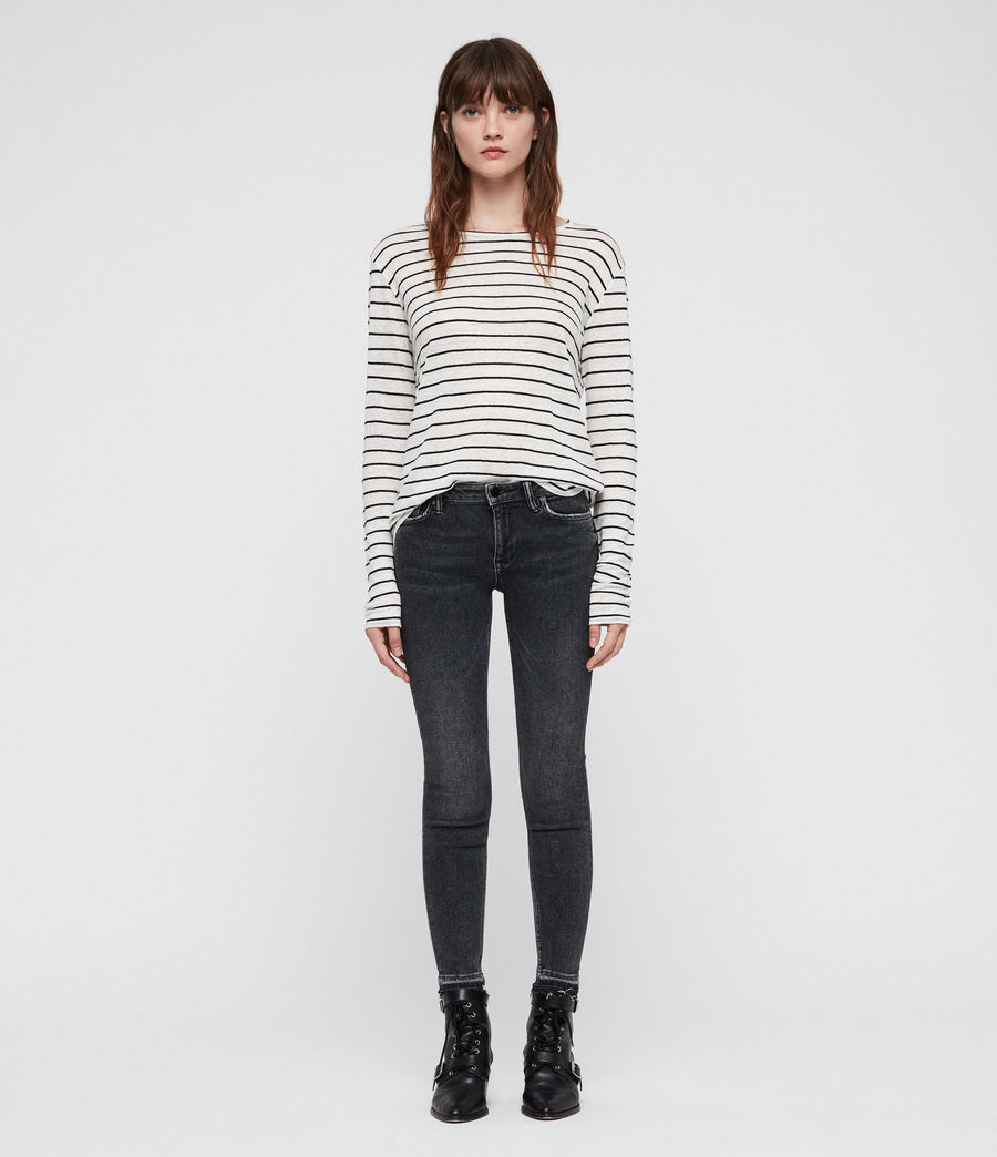 Women's Mast Ankle Ty Jeans (washed_black) - Image 3