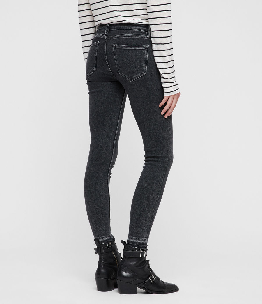 Women's Mast Ankle Ty Jeans (washed_black) - Image 6