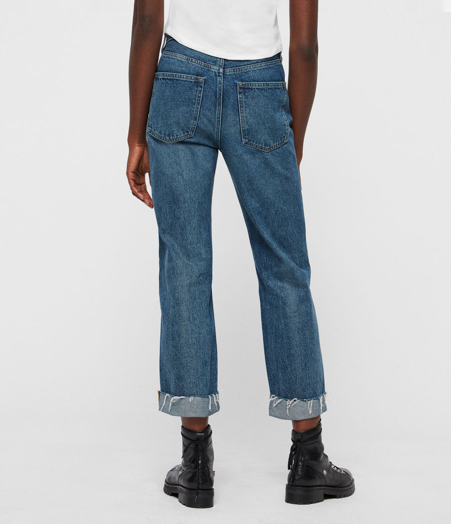 Womens Mari High-Rise Cropped Boyfriend Jeans, Dark Indigo Blue (dark_indigo_blue) - Image 4