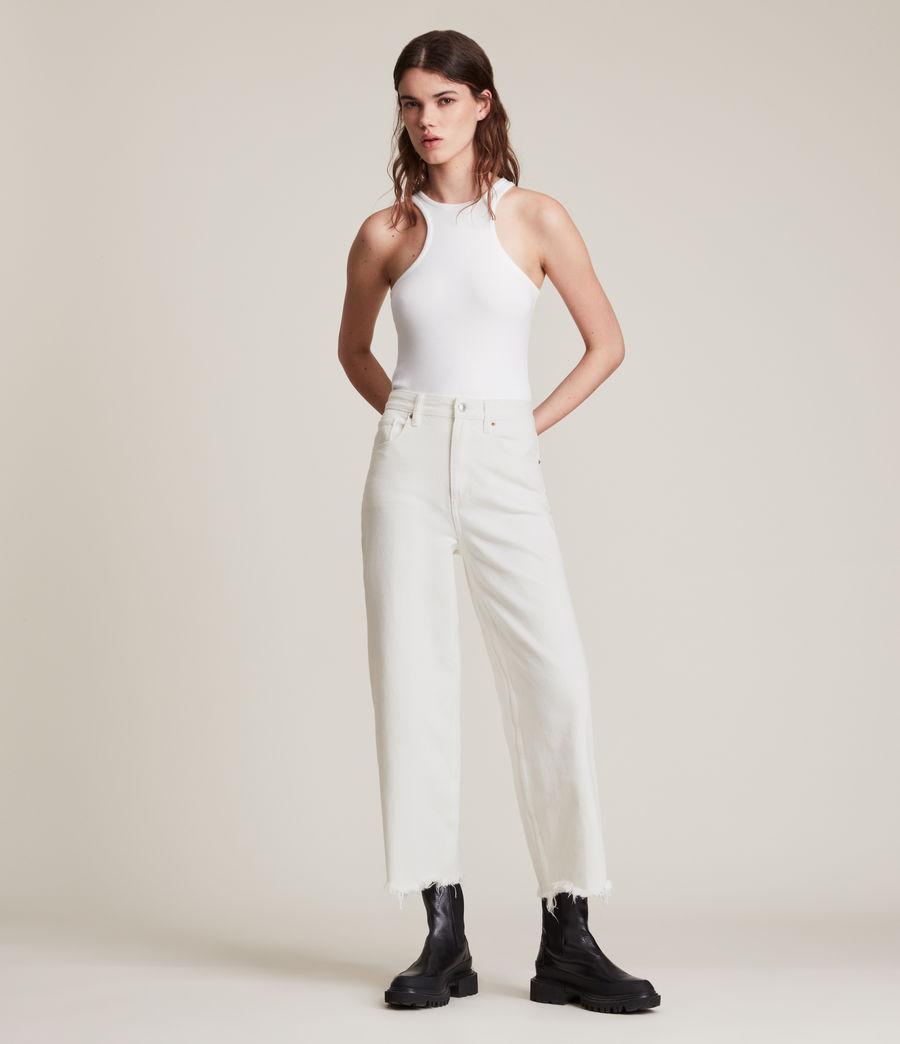 Women's Jayce High Rise Wide Leg Jeans, White (white) - Image 1