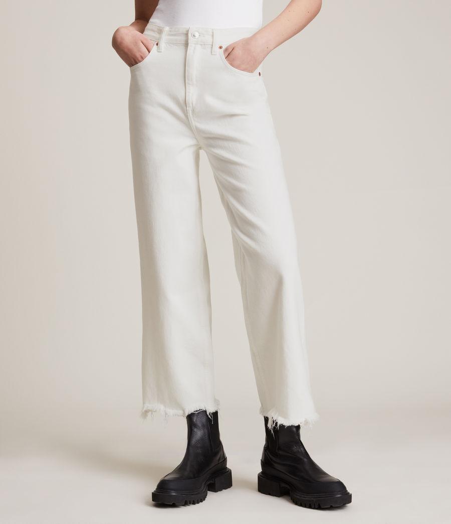 Women's Jayce High Rise Wide Leg Jeans, White (white) - Image 2