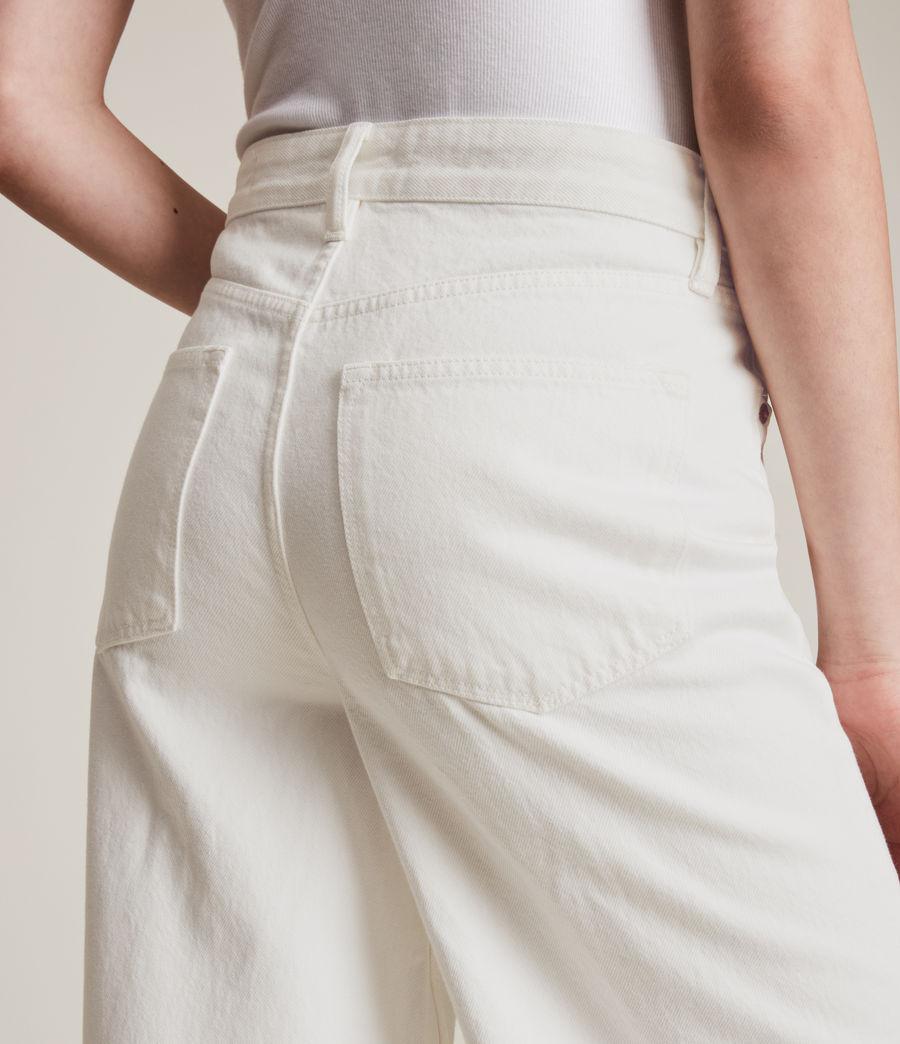 Women's Jayce High Rise Wide Leg Jeans, White (white) - Image 3