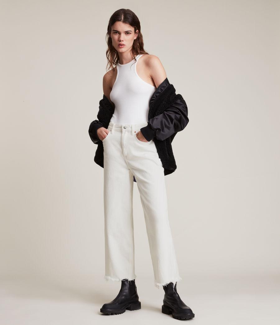 Women's Jayce High Rise Wide Leg Jeans, White (white) - Image 4