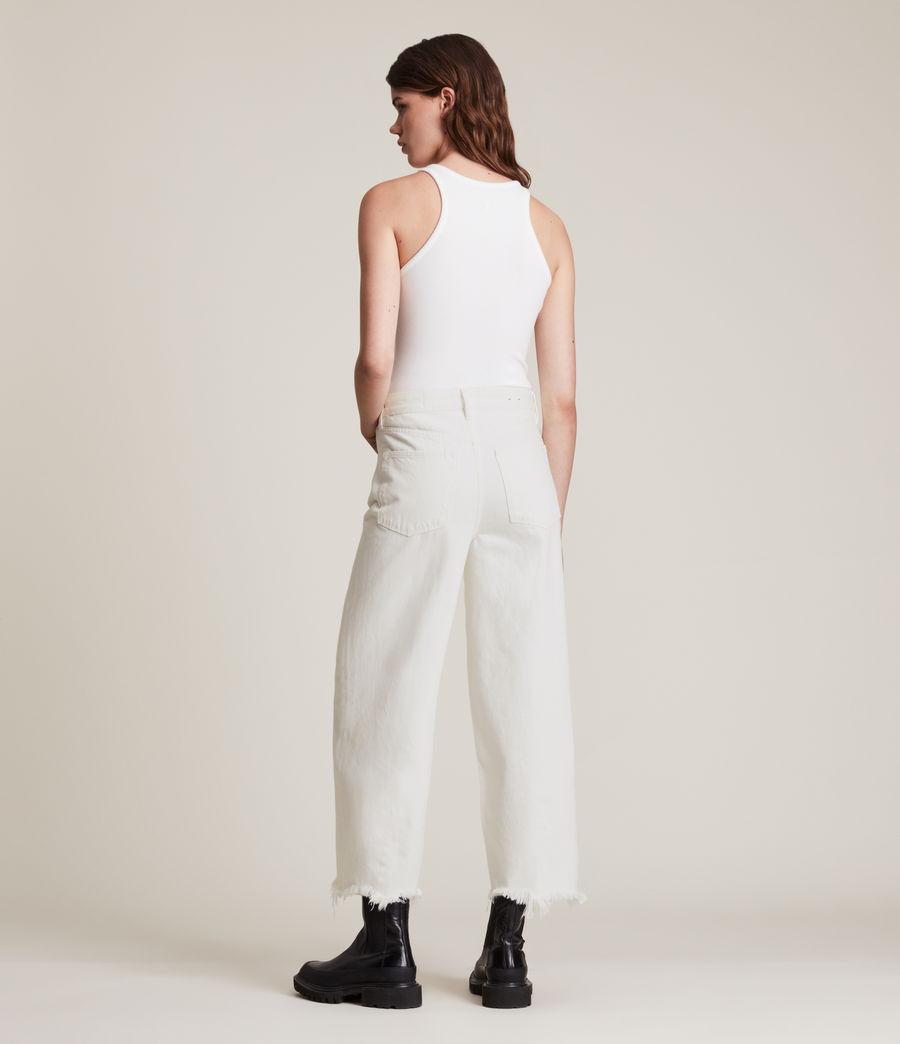 Women's Jayce High Rise Wide Leg Jeans, White (white) - Image 5