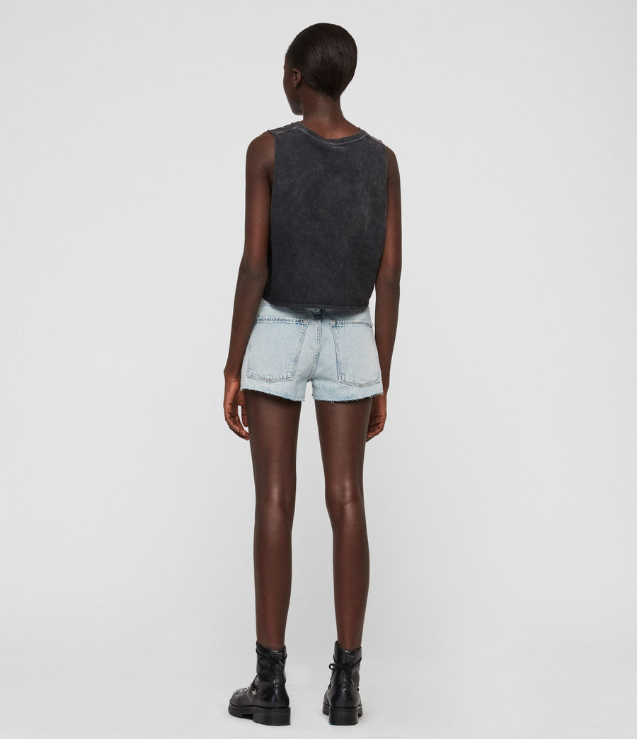 Womens Cleo Denim Low-Rise Boyfriend Shorts (ice_blue) - Image 7