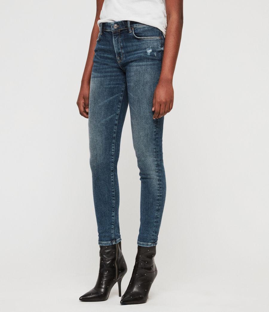 Women's Grace Skinny Jeans (dark_indigo_blue) - Image 1