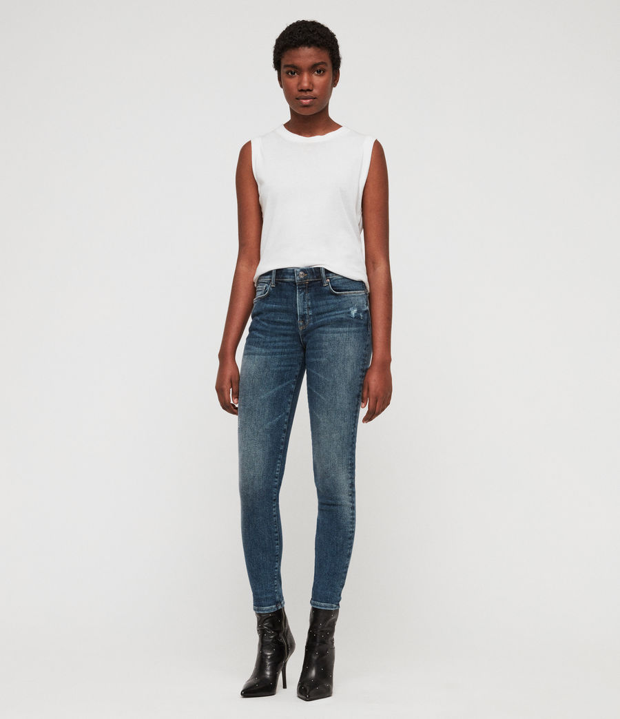 Women's Grace Skinny Jeans (dark_indigo_blue) - Image 3
