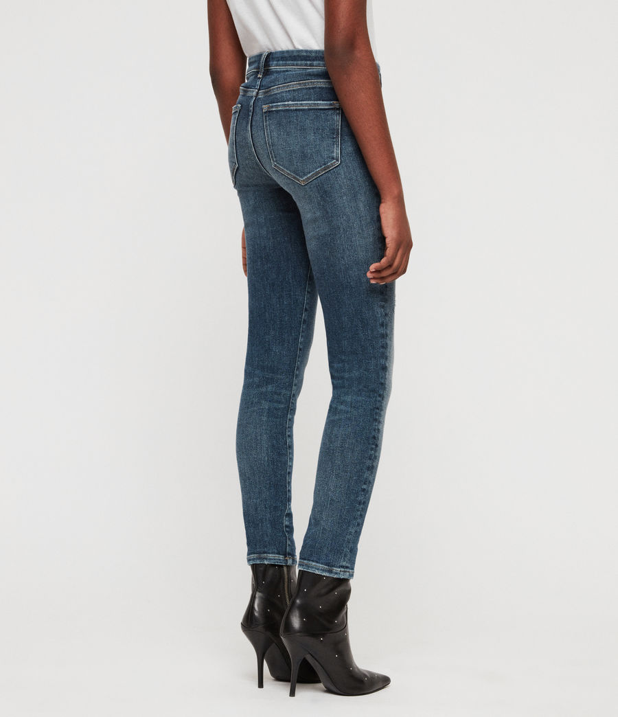 Women's Grace Skinny Jeans (dark_indigo_blue) - Image 5