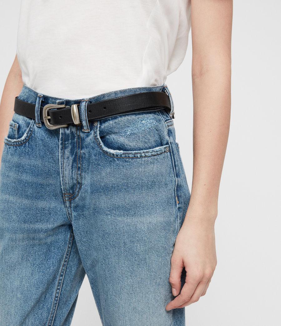 Damen Boys Frayed Ty Jeans (mid_indigo) - Image 2