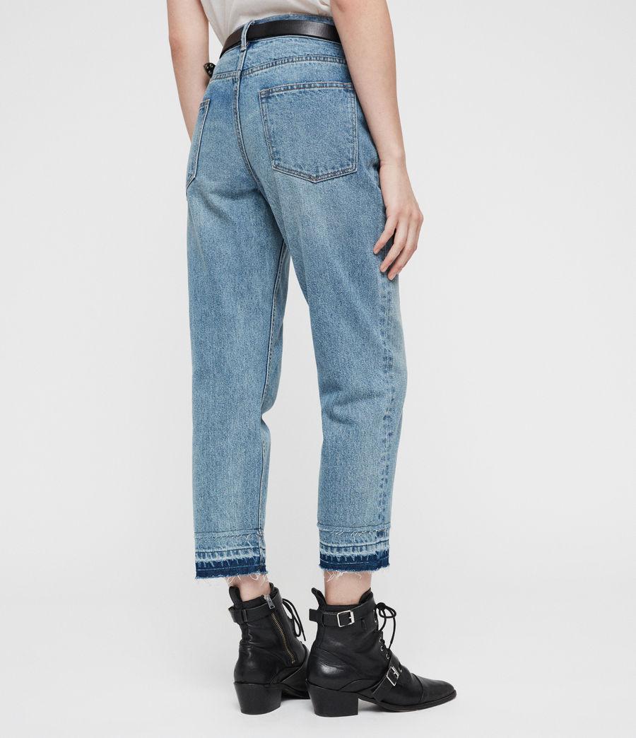 Women's Boys Frayed Ty Jeans (mid_indigo) - Image 5