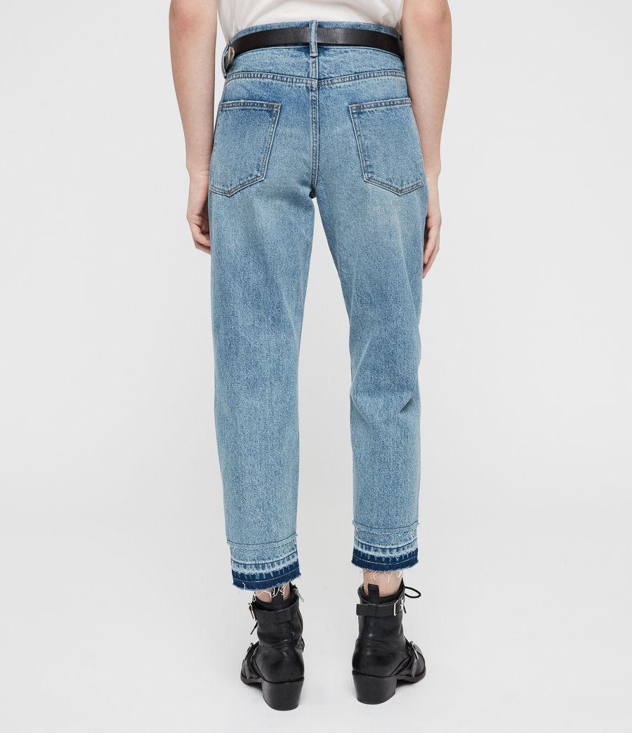 Women's Boys Frayed Ty Jeans (mid_indigo) - Image 6