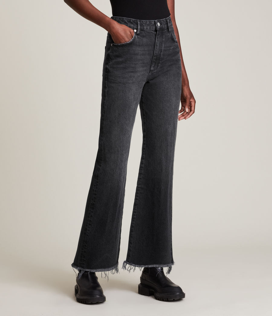Women's Becca High-Rise Slim Flared Jeans (washed_black) - Image 2