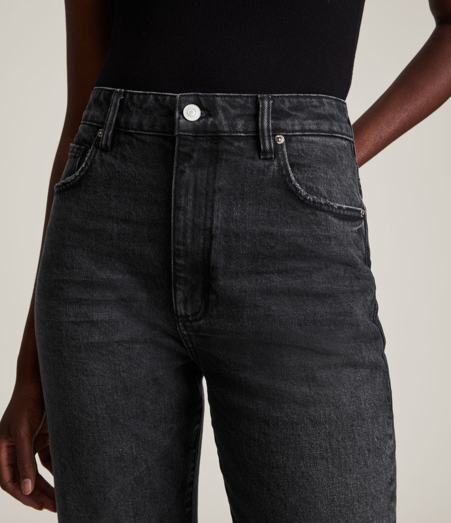 Women's Becca High-Rise Slim Flared Jeans (washed_black) - Image 3