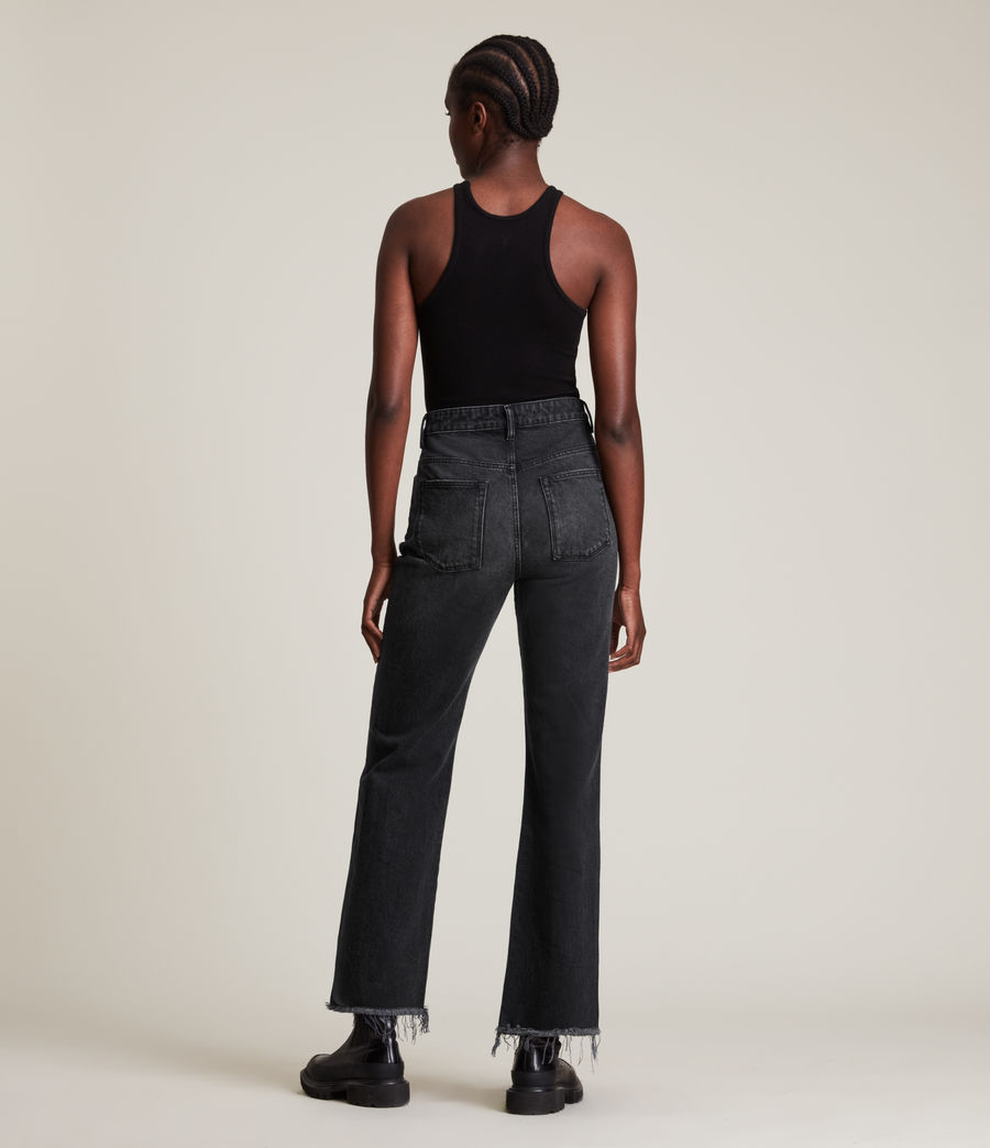 Women's Becca High-Rise Slim Flared Jeans (washed_black) - Image 6
