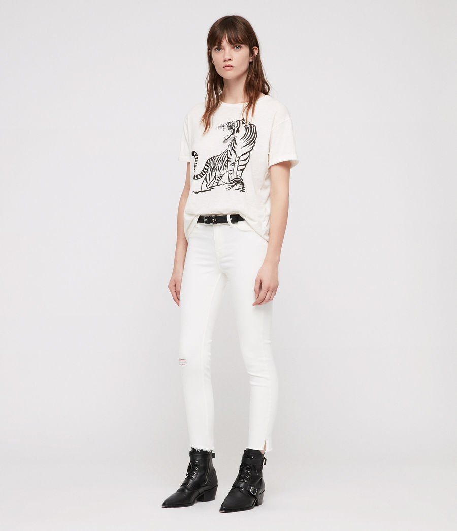 Womens Grace Ankle Fray Skinny Jeans (chalk_white) - Image 3
