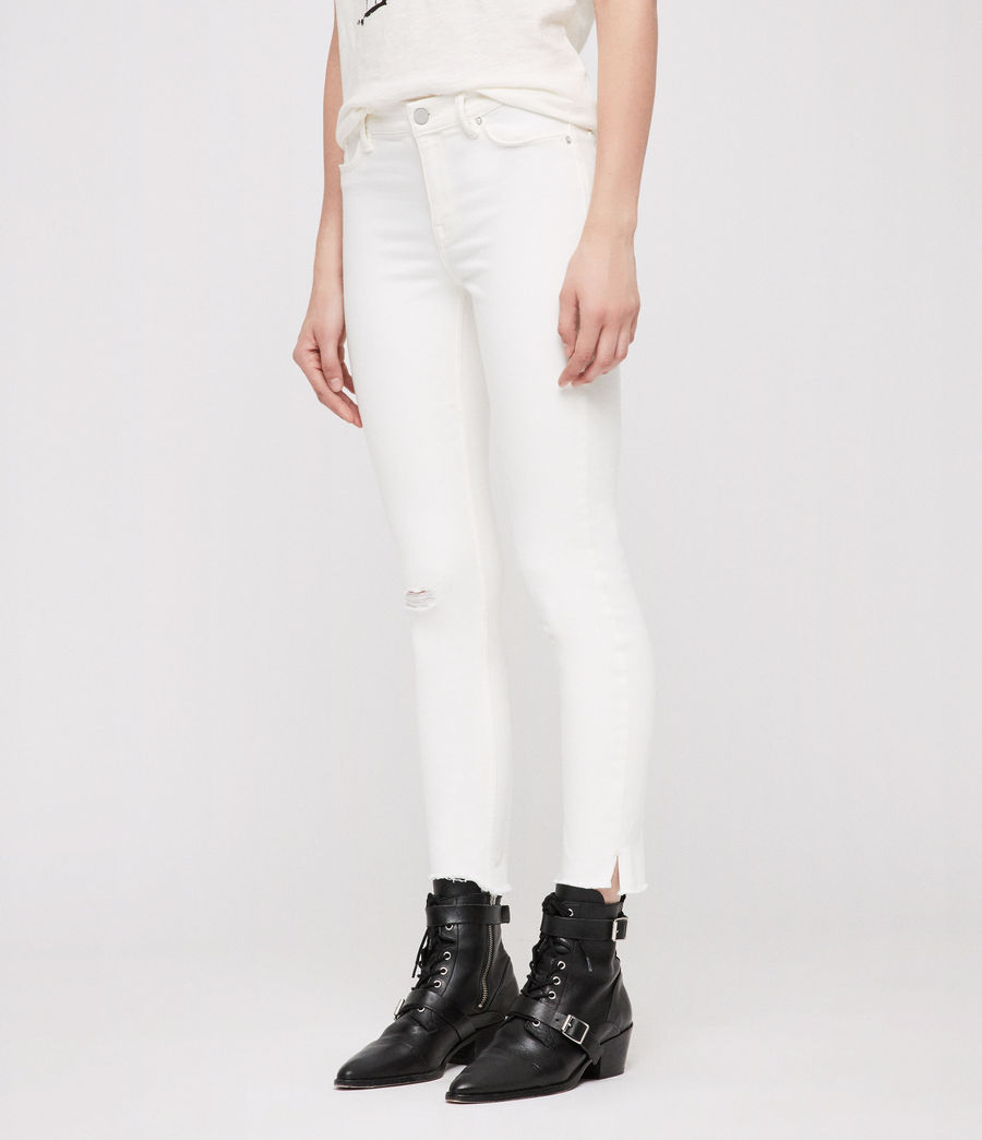 Womens Grace Ankle Fray Skinny Jeans (chalk_white) - Image 4