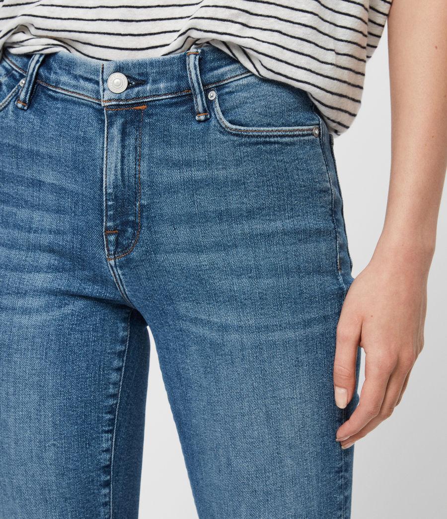Women's Grace Ankle Mid-Rise Skinny Jeans, Indigo Blue (indigo_blue) - Image 2