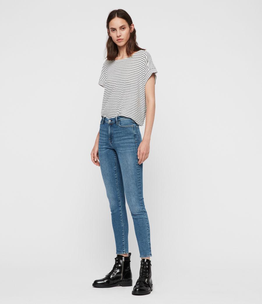 Women's Grace Ankle Mid-Rise Skinny Jeans, Indigo Blue (indigo_blue) - Image 3