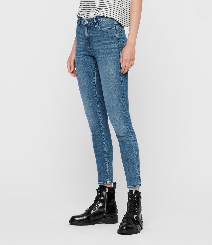 Women's Grace Ankle Mid-Rise Skinny Jeans, Indigo Blue (indigo_blue) - Image 4