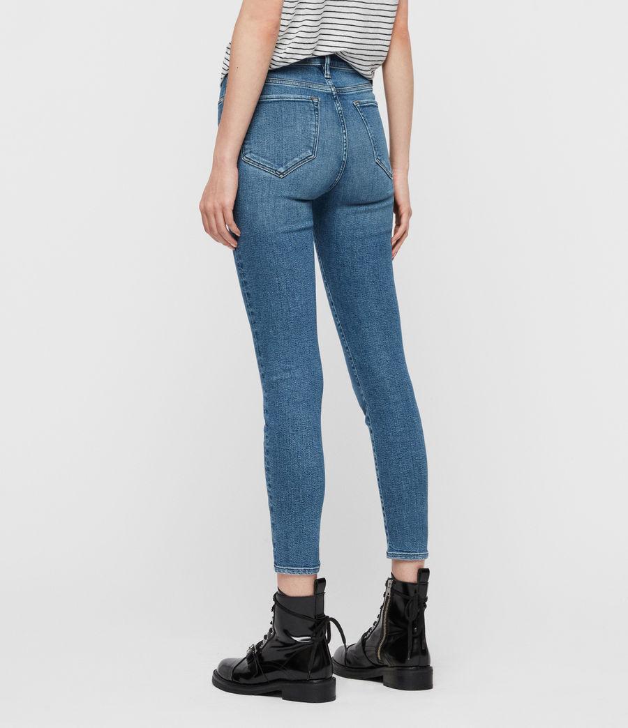 Women's Grace Ankle Mid-Rise Skinny Jeans, Indigo Blue (indigo_blue) - Image 5