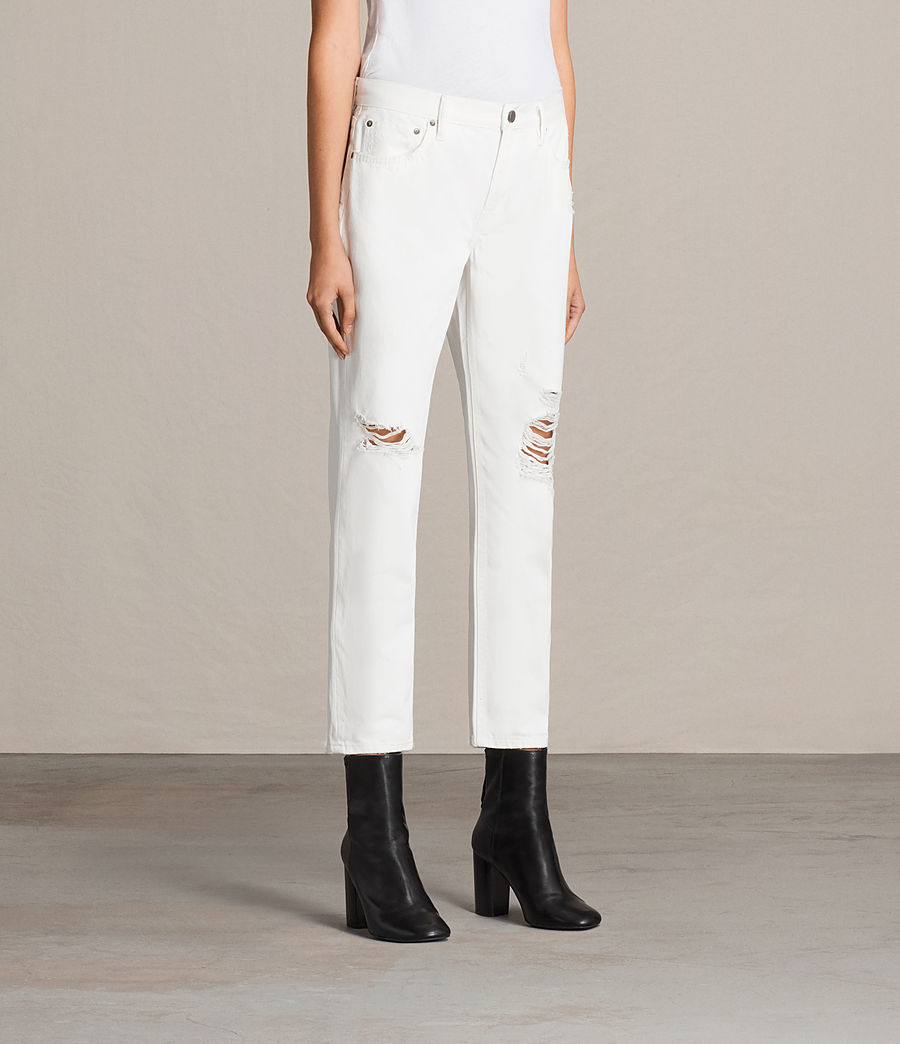 Femmes Jean Slim Destroy Muse (chalk_white) - Image 3