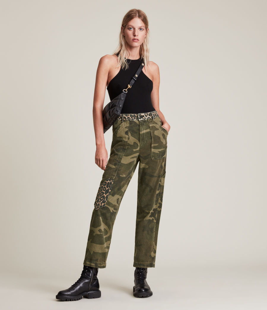 Women's Dessa High-Rise Camouflage Relaxed Jeans (camouflage_green) - Image 1