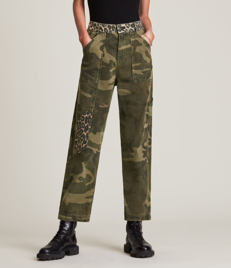 Women's Dessa High-Rise Camouflage Relaxed Jeans (camouflage_green) - Image 2