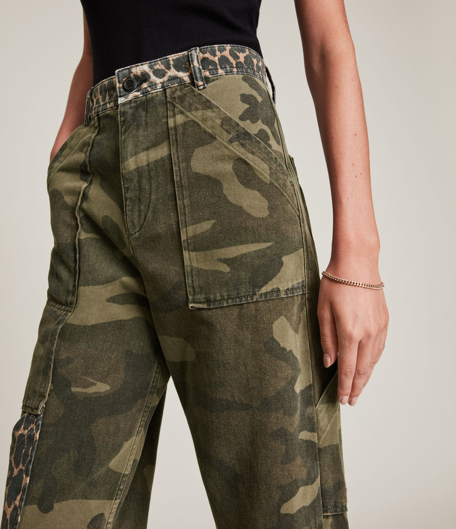 Women's Dessa High-Rise Camouflage Relaxed Jeans (camouflage_green) - Image 3