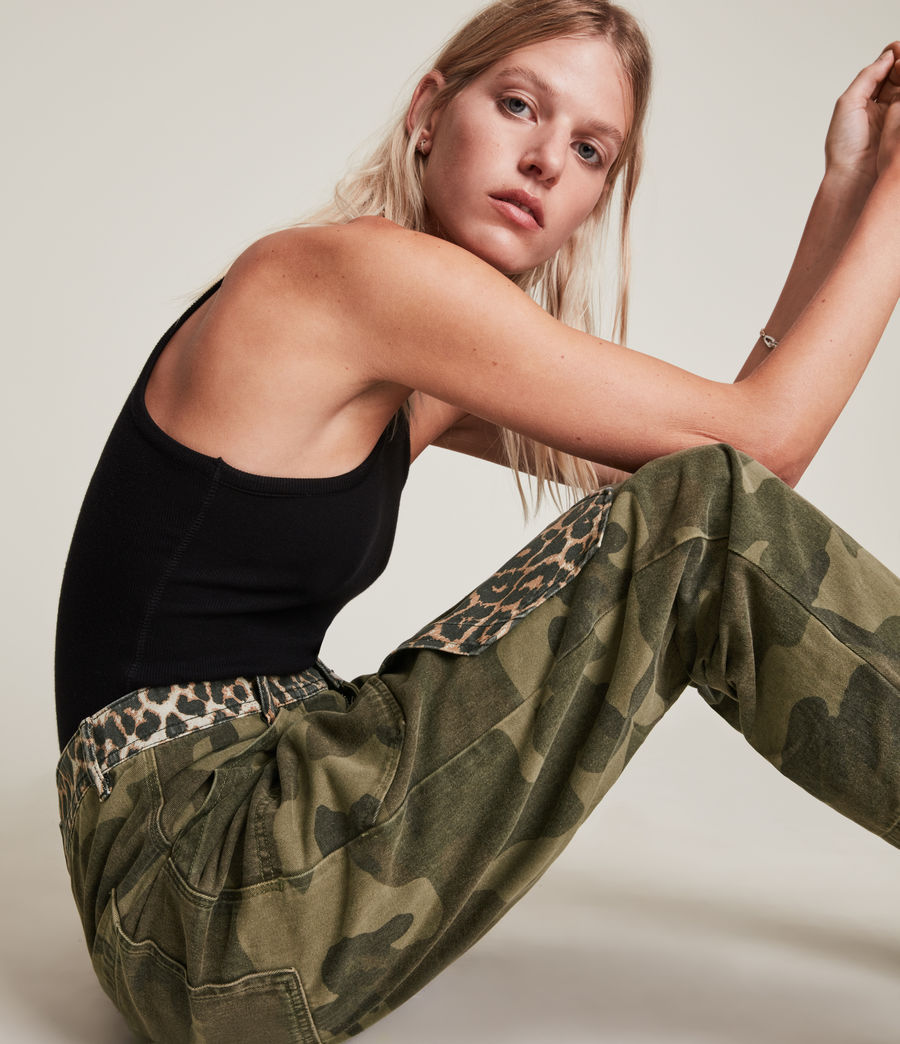 Women's Dessa High-Rise Camouflage Relaxed Jeans (camouflage_green) - Image 4
