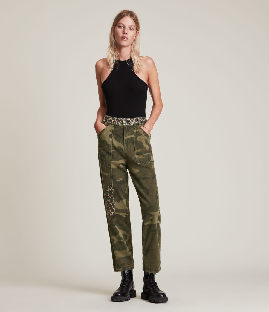 Women's Dessa High-Rise Camouflage Relaxed Jeans (camouflage_green) - Image 5