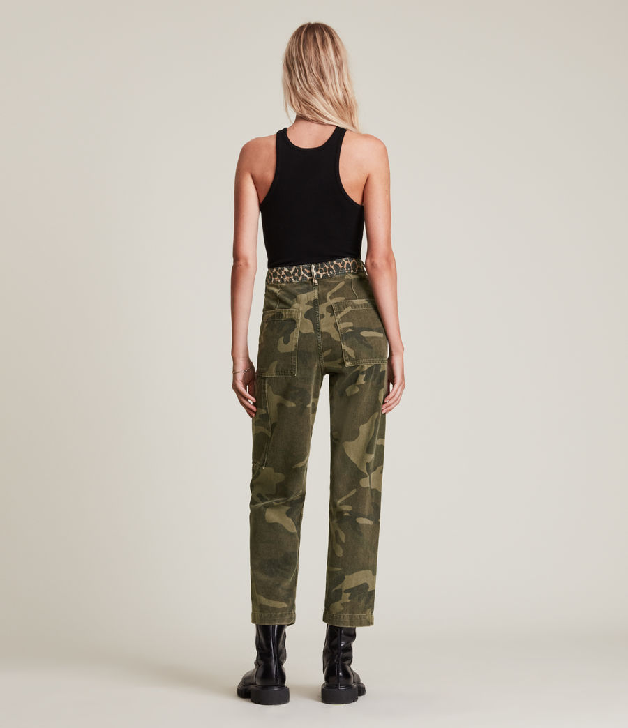 Women's Dessa High-Rise Camouflage Relaxed Jeans (camouflage_green) - Image 6