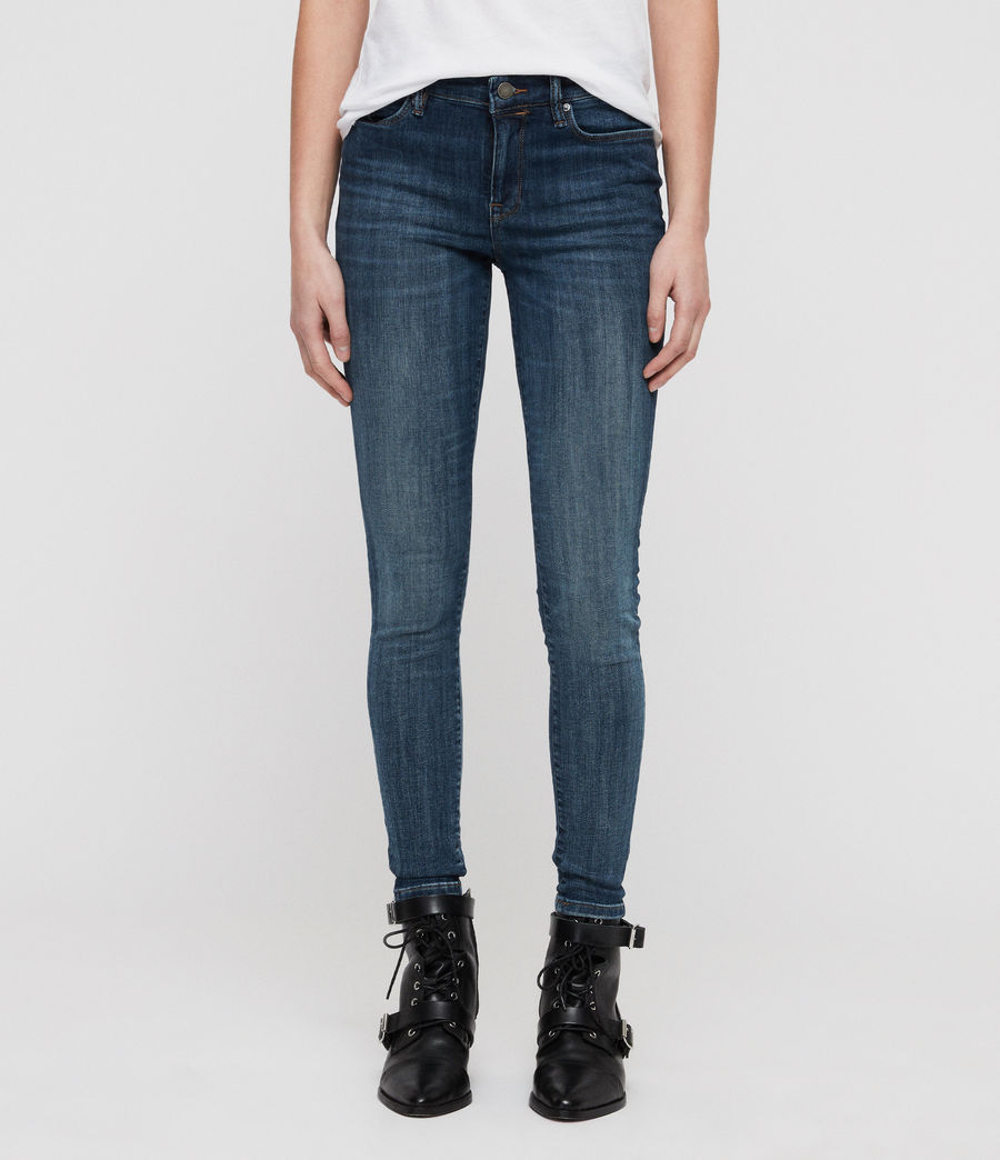 Womens Grace Skinny Jeans (washed_indigo) - Image 1