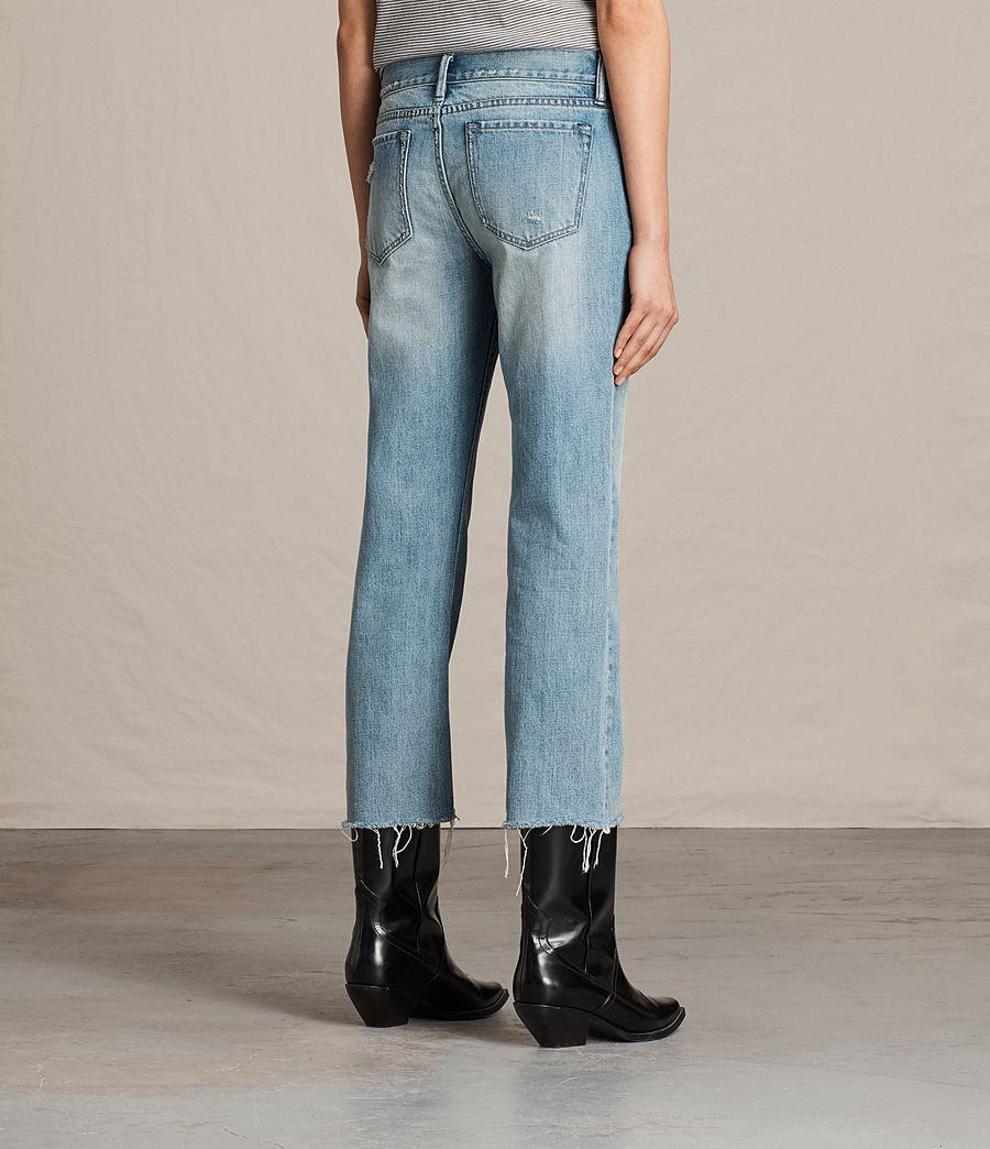 Women's Serene Cropped Kick Flare Slim Jeans (vintage_indigo_blu) - Image 4
