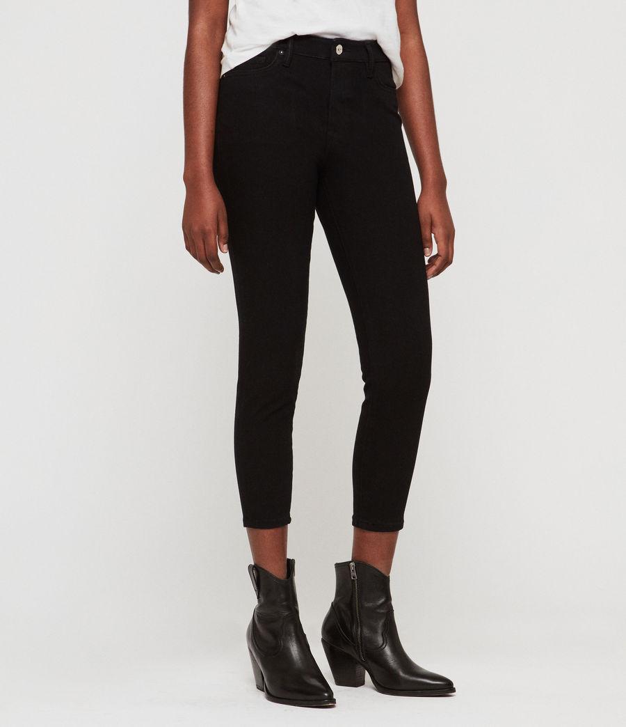 Womens Roxanne Bistretch Cropped Skinny Jeans (black) - Image 1