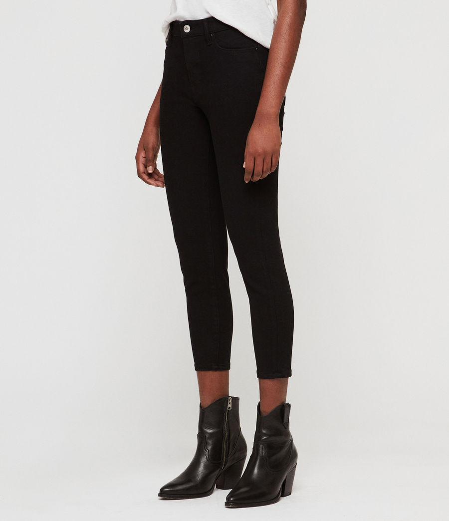 Womens Roxanne Bistretch Cropped Skinny Jeans (black) - Image 3