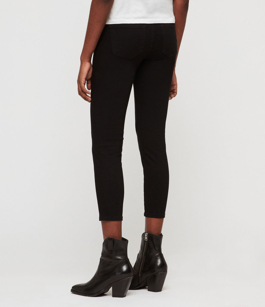 Womens Roxanne Bistretch Cropped Skinny Jeans (black) - Image 4
