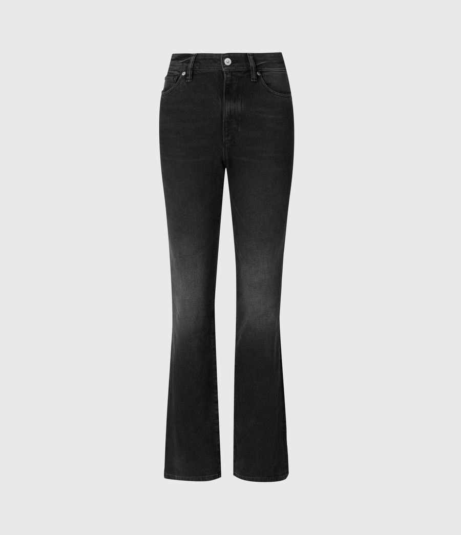 Womens Ciara High-Rise Bootcut Jeans, Washed Black (washed_black) - Image 2