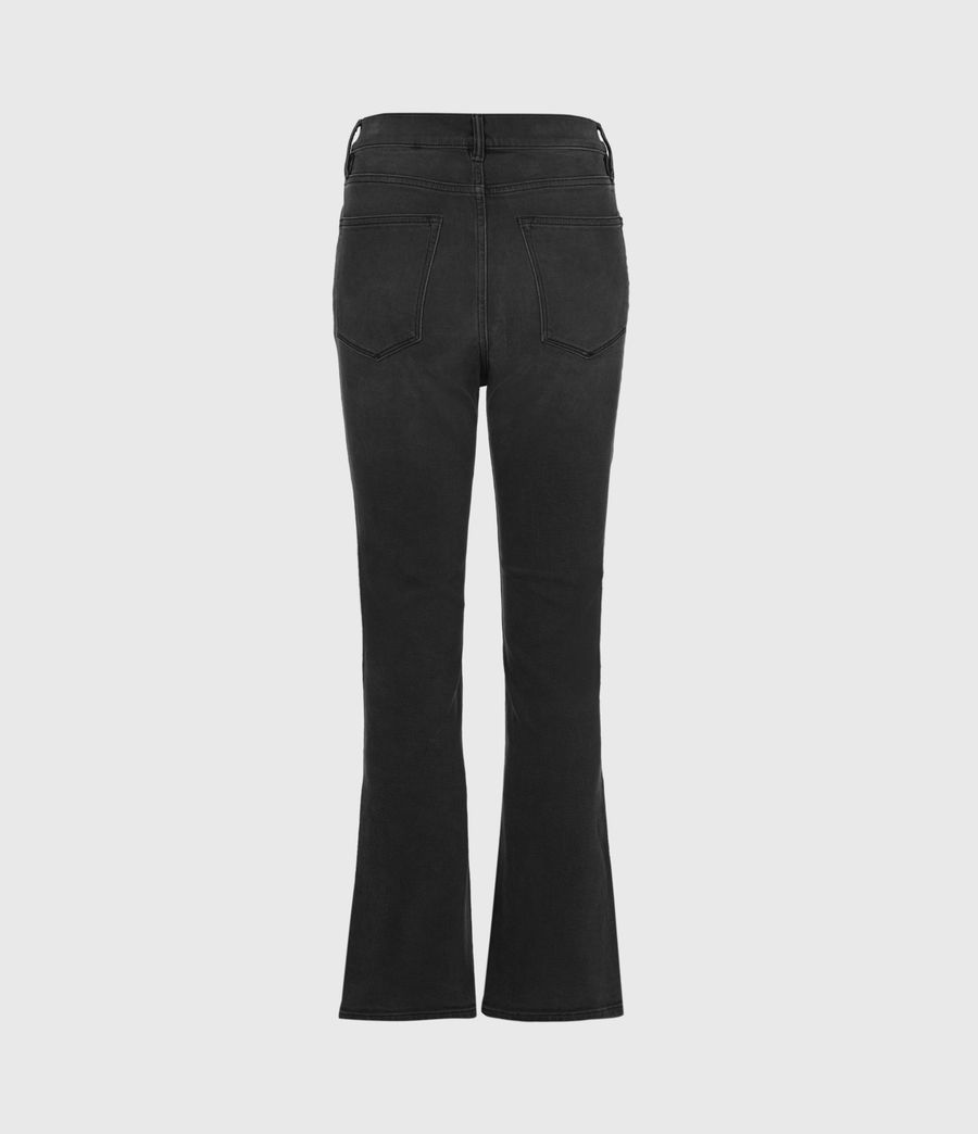 Womens Ciara High-Rise Bootcut Jeans, Washed Black (washed_black) - Image 3