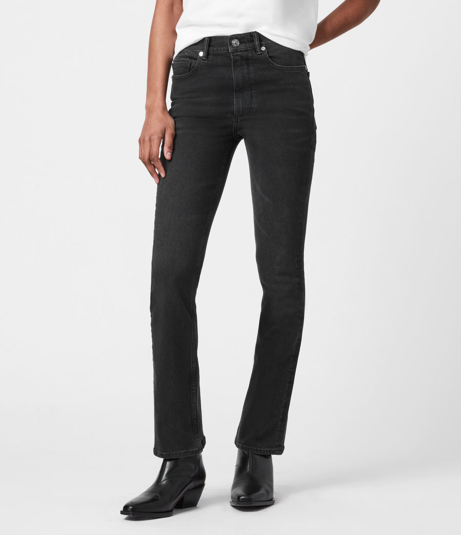 Womens Ciara High-Rise Bootcut Jeans, Washed Black (washed_black) - Image 4