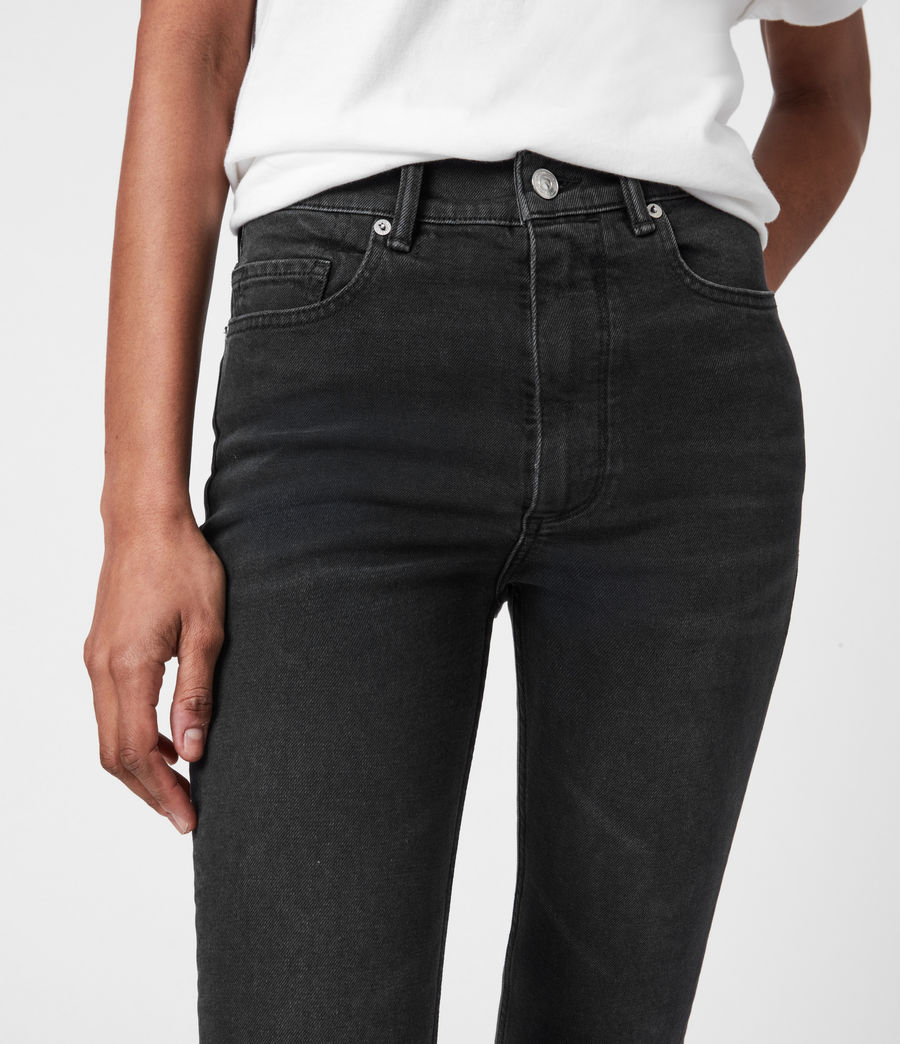 Womens Ciara High-Rise Bootcut Jeans, Washed Black (washed_black) - Image 5