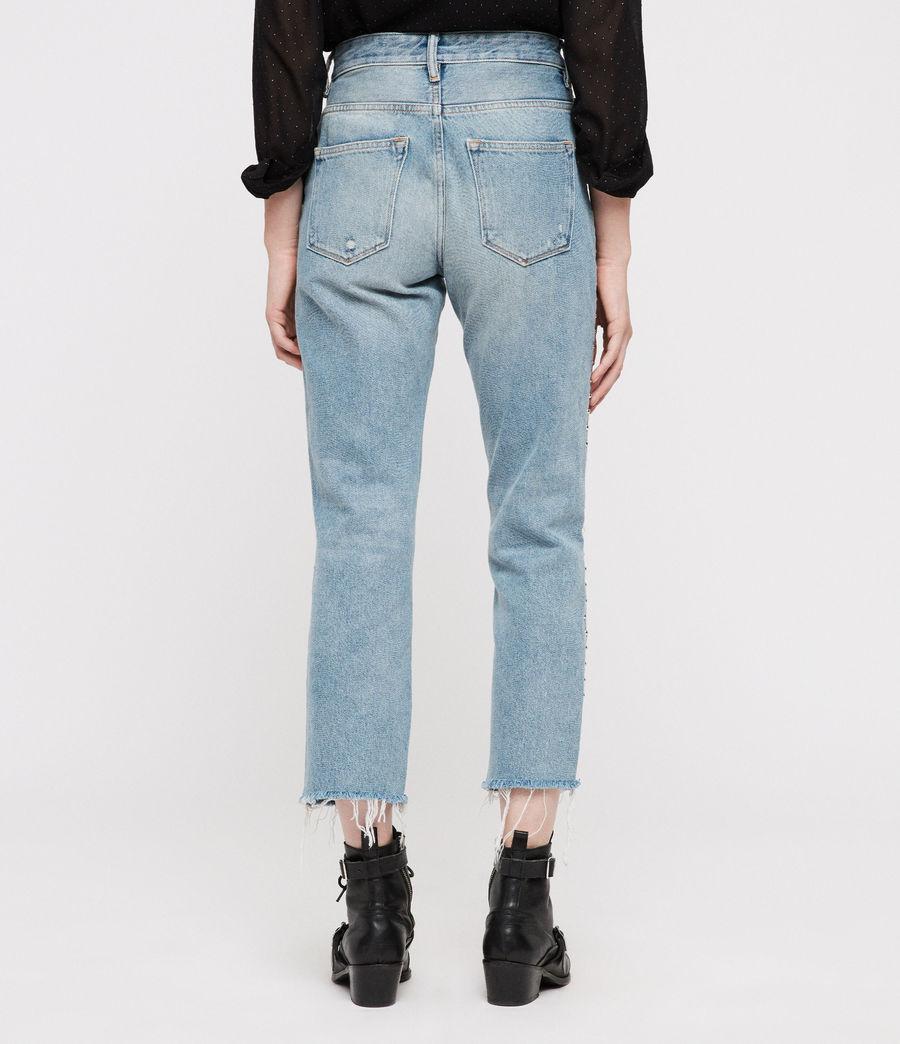 Women's Ava Stud Straight Jeans (light_indigo_blue) - Image 6