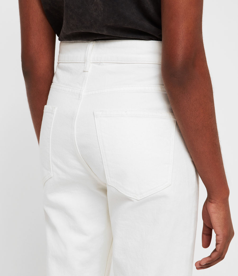 Womens Eden Hirise Straight Cropped Jeans, White (white) - Image 5