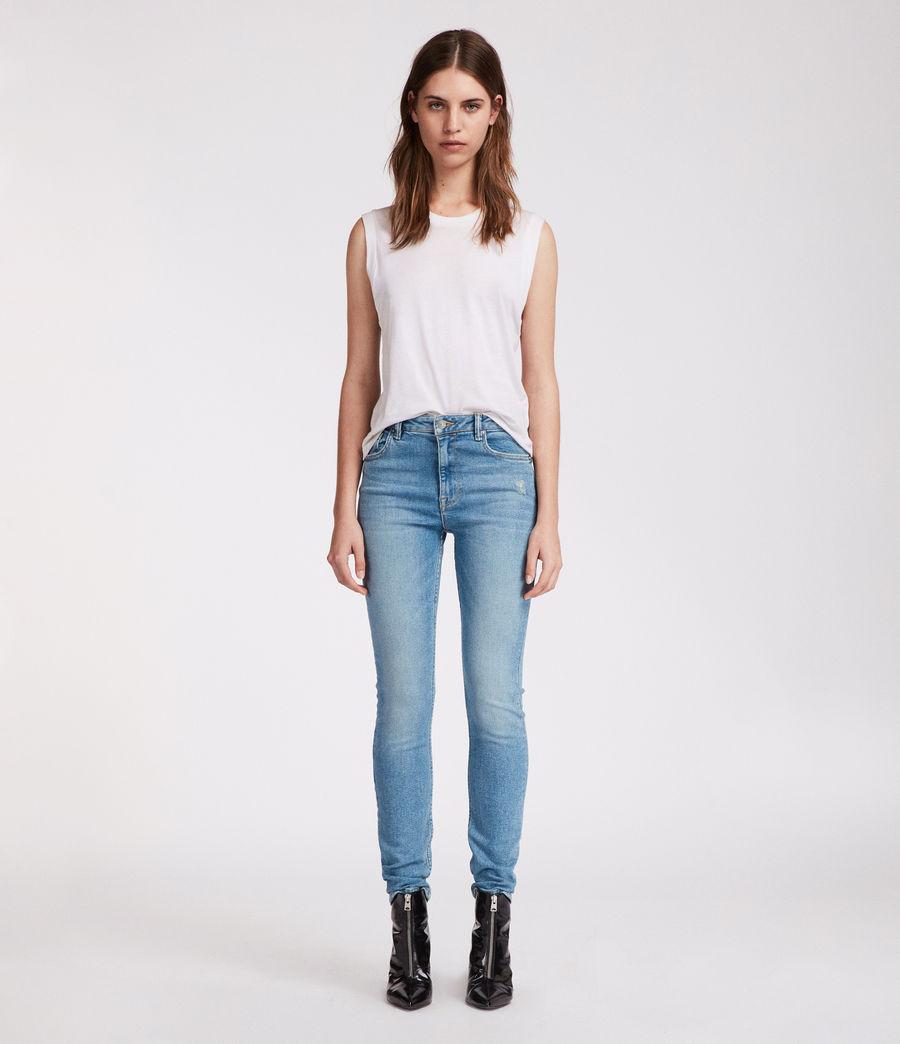 Womens Stilt Vintage High Waisted Jeans (mid_indigo_blue) - Image 2