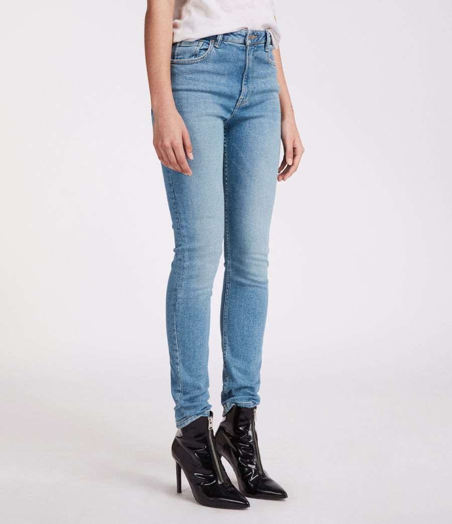 Womens Stilt Vintage High Waisted Jeans (mid_indigo_blue) - Image 3
