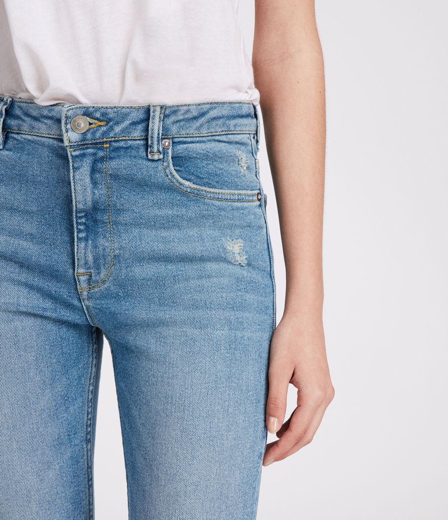 Womens Stilt Vintage High Waisted Jeans (mid_indigo_blue) - Image 4