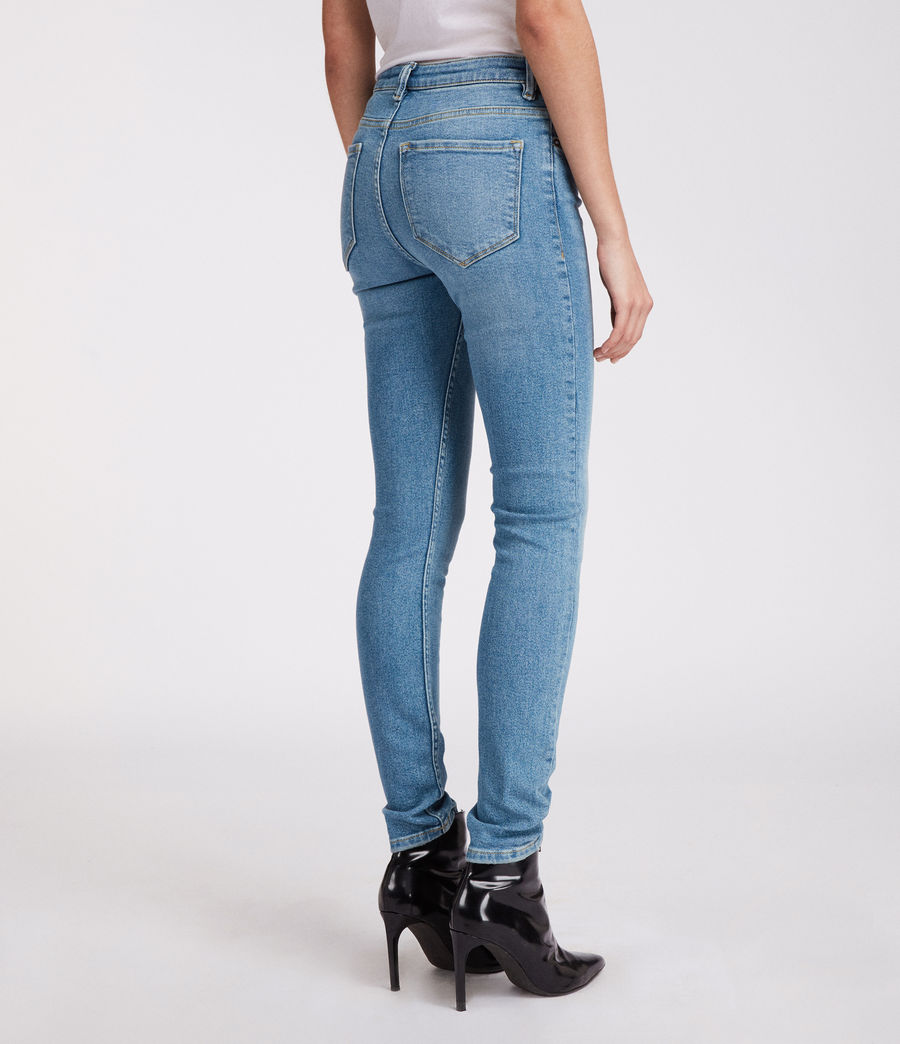 Womens Stilt Vintage High Waisted Jeans (mid_indigo_blue) - Image 5